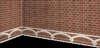 高级红砖制成的墙壁